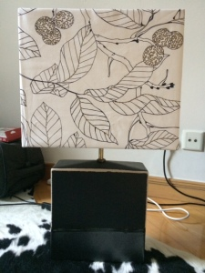 The finished lamp!