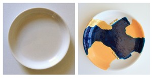 Before and After -  ceramic, abstract art ring dish