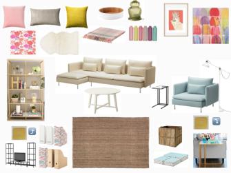 LIKEA lounge room - pastel